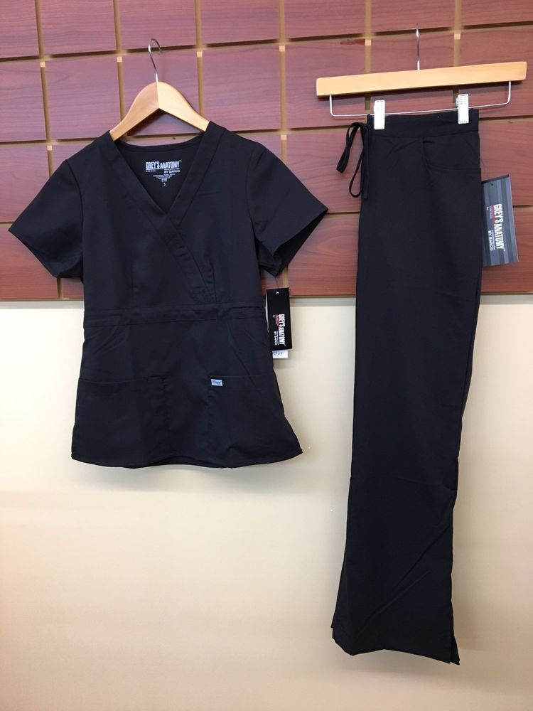 8af18651beb NEW Grey's Anatomy Black Solid Scrubs Set With Small Top & Small Pants NWT  #fashion #clothing #shoes #accessories #uniformsworkclothing #scrubs (ebay  link)