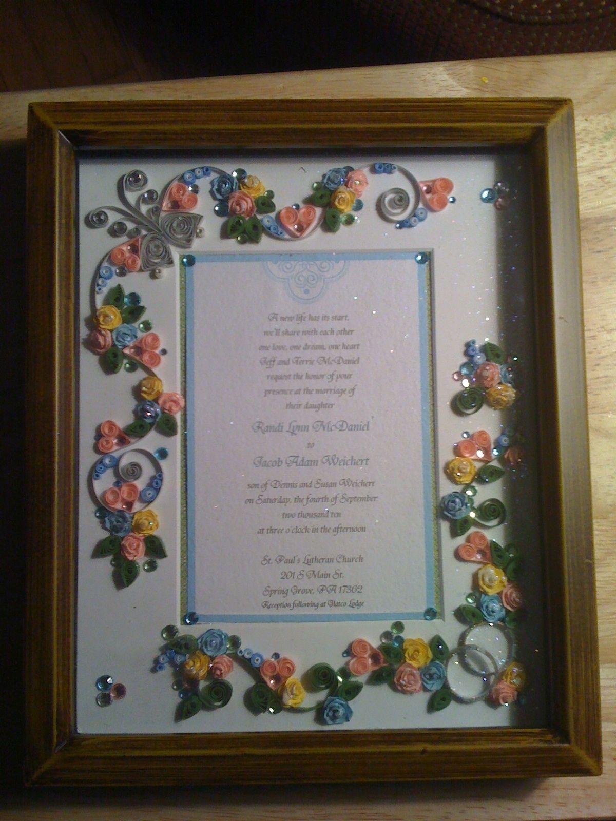 38+ Wedding invitation frame ideas info