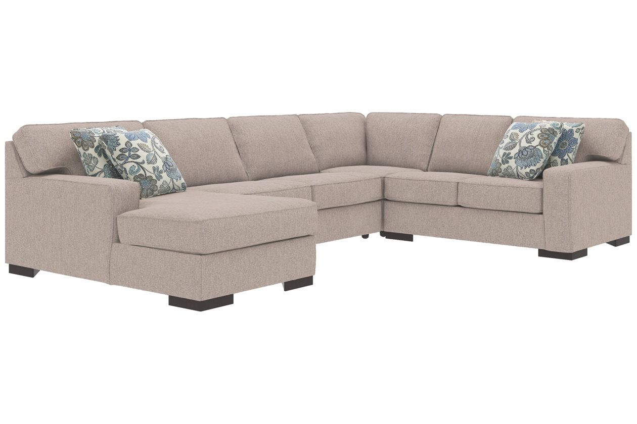 Best Ashlor Nuvella® 4 Piece Sleeper Sectional And Pillows 400 x 300