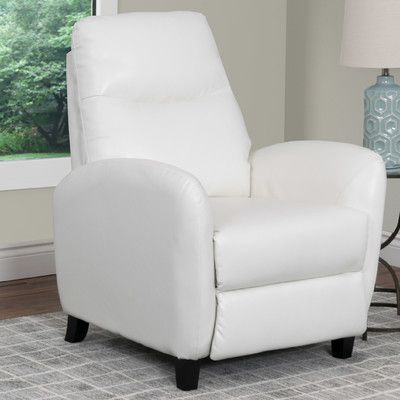 Latitude Run Frieda Manual Recliner Upholstery: White