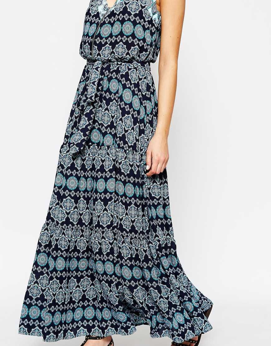 438910b0b84 Image 3 of Oasis Boho Tile Print Maxi Dress