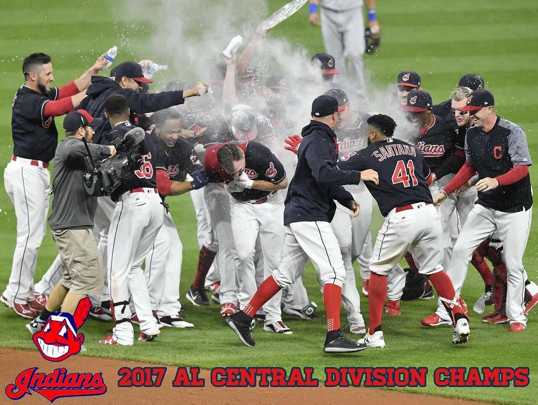 Your Cleveland Indians Are The 2017 Al Central Division Champs Backtoback Cleveland Indians Baseball Cleveland Indians Indians