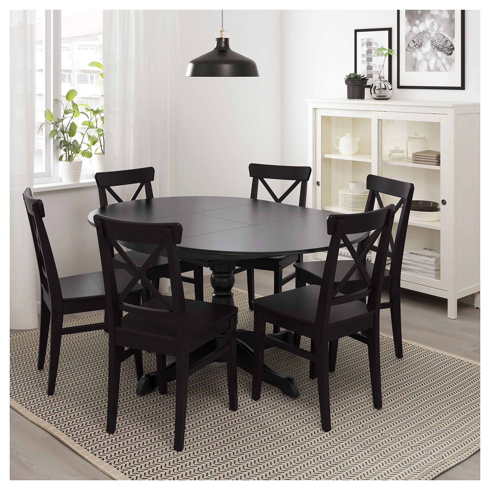 best website 1ff69 7baf6 INGATORP Extendable table, black in 2019 | Products | Ikea ...