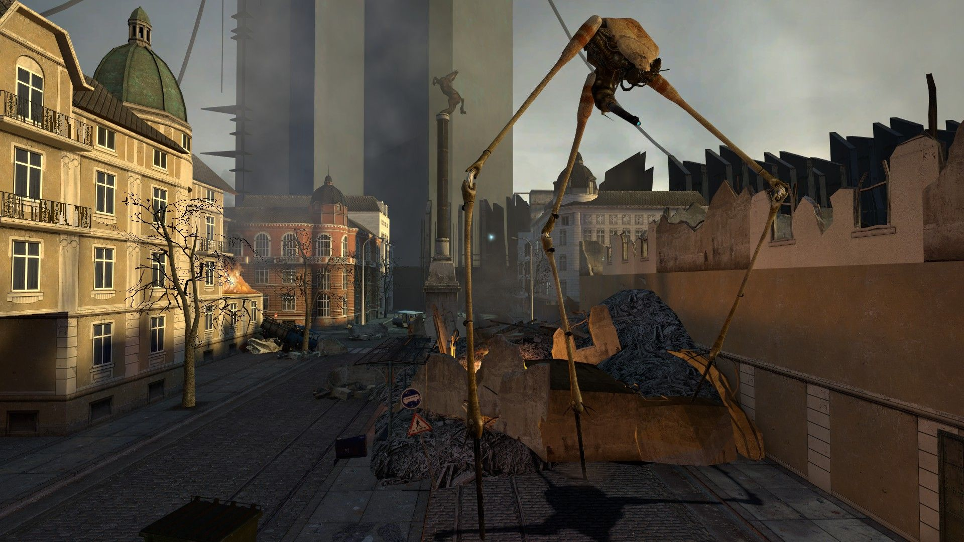 63 Half Life 2 1080p Wallpaper Garrys Mod City 17 Strider Jpg
