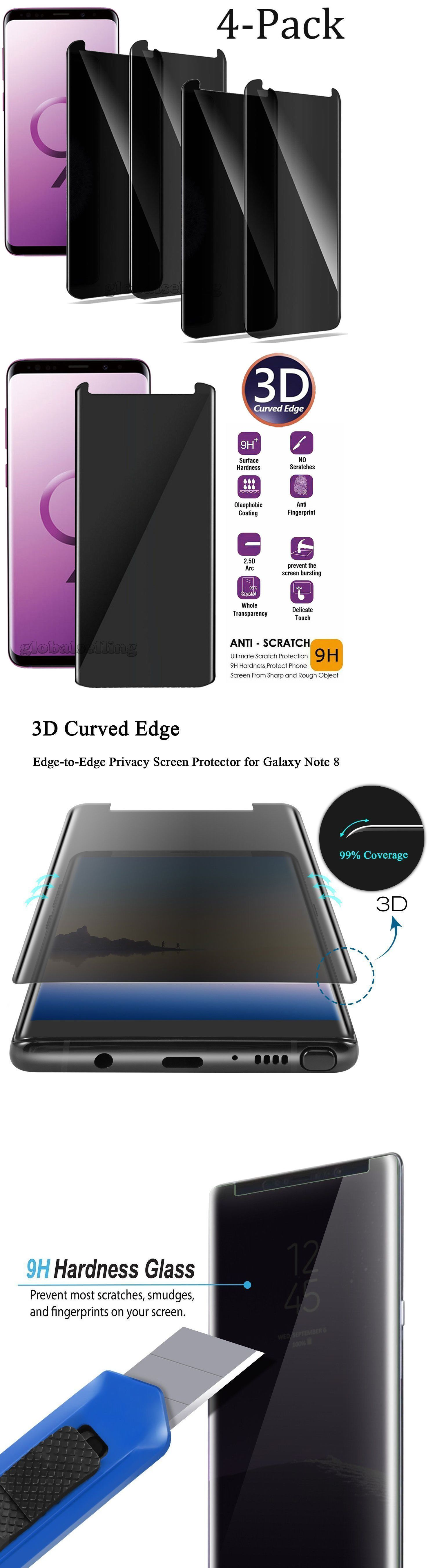 Privacy Screen Protector Tempered Glass For Samsung Galaxy S10 S20 Plus Note10 9 Ebay Tempered Glass Screen Protector Tempered Glass Screen