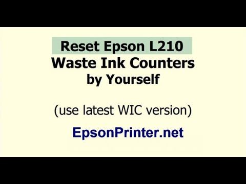 Reset Epson L210 printer Waste Ink Counter | Wic Reset Key | Wic