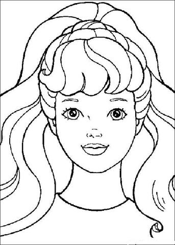 barbie 8 coloring page  barbie coloring pages