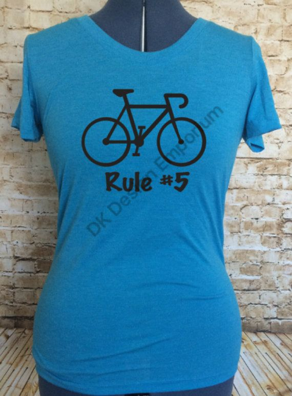 Cycling Rule 5 Fitted Women's Tee  Cycling by DKDesignEmporium