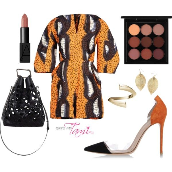 What To Wear To A Press Roundtable by talkingwithtami on Polyvore featuring Stella Jean, Gianvito Rossi, 3.1 Phillip Lim, Selin Kent and MAC Cosmetics