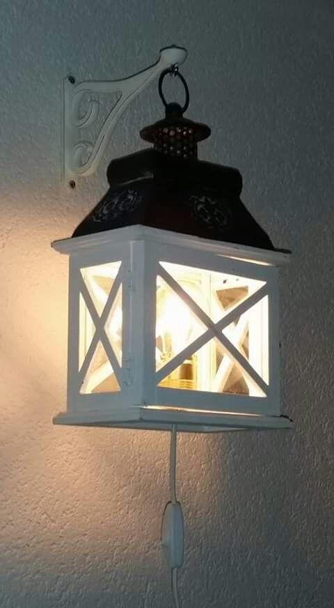 Cool leuke lamp voor buiten en binnen gemaakt van lantaarn for Mini kerstboom action