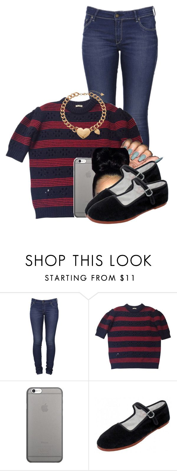 """""""Untitled #2779"""" by alisha-caprise ❤ liked on Polyvore featuring Lee, Miu Miu, Native Union, Easy USA and GUESS"""