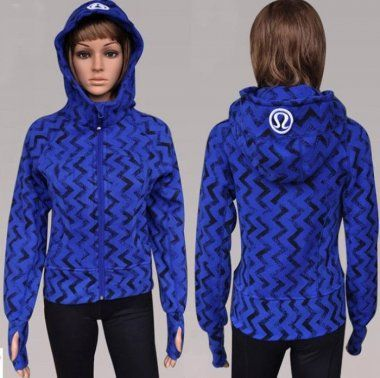 Lululemon Yoga Scuba Hoodie Classic Wave Pattern Blue : Lululemon Outlet Online, Lululemon outlet store online,100% quality guarantee,yoga cloting on sale,Lululemon Outlet sale with 70% discount!$59.69