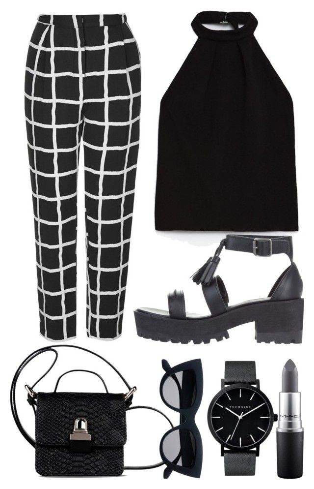 """""""sadness is a perv"""" by fanni-laszlo on Polyvore featuring Topshop, Zara, Windsor Smith, MM6 Maison Margiela, MAC Cosmetics and The Horse"""