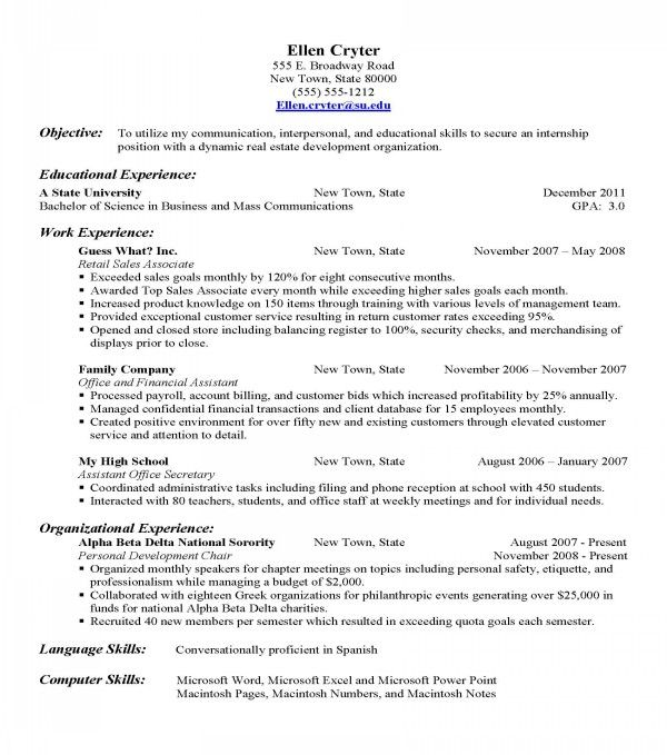 Best Resume Builder Website -   wwwjobresumewebsite/best - Resume Objective Sample