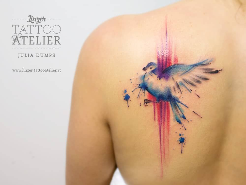 Image result for watercolor bird tattoo