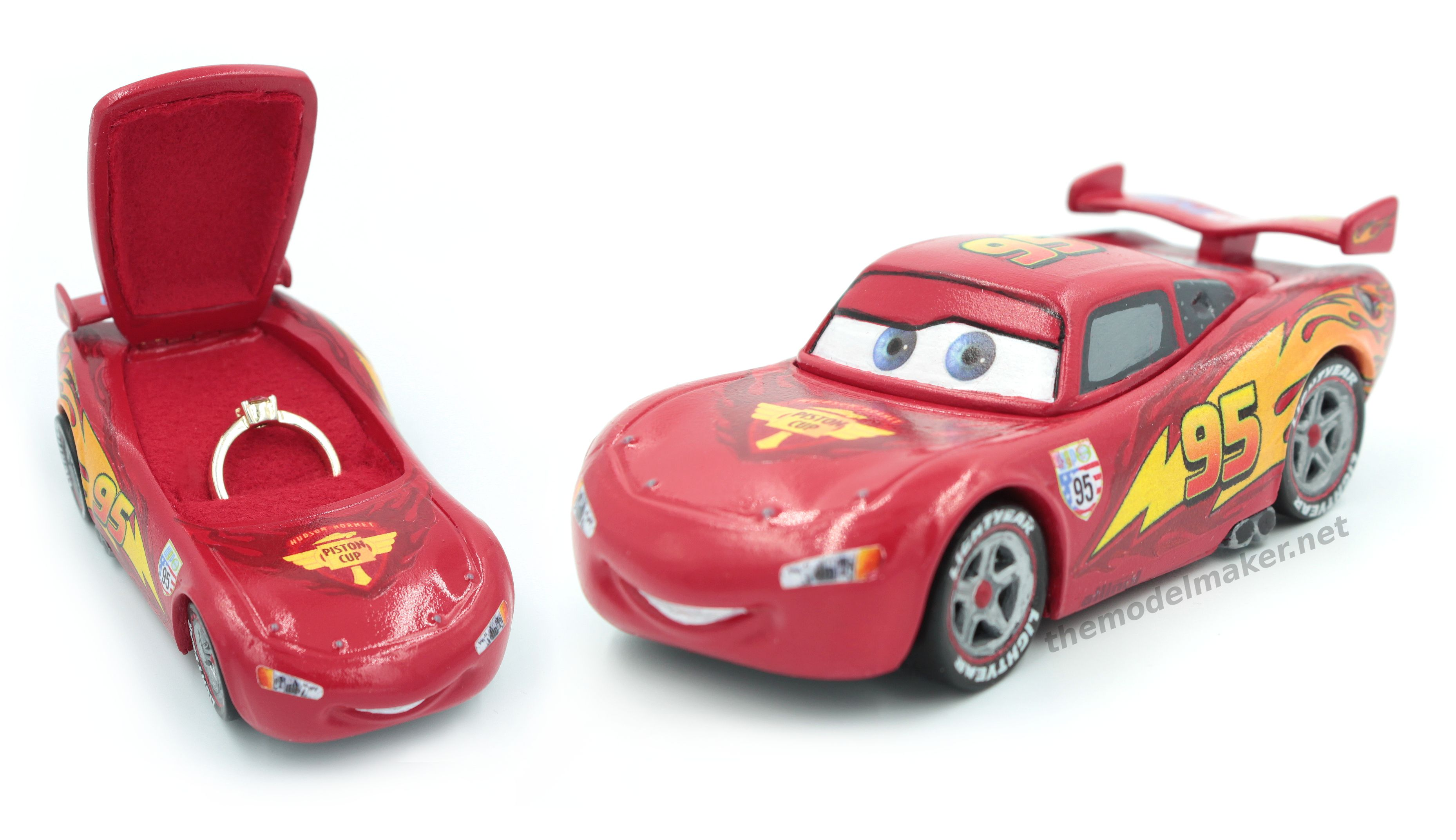 Custom engagement ring box based on Lighting McQueen character from ...
