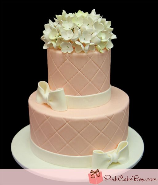 simple pink hydrangea bridal shower cake bridal shower cakes