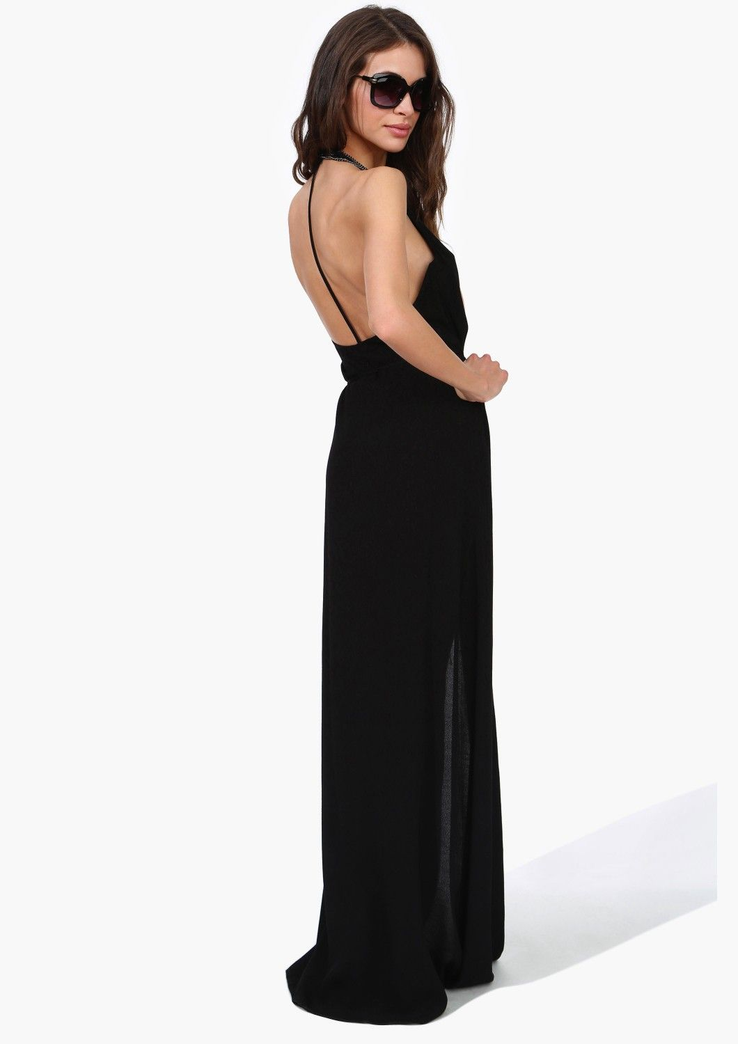 Long black dress wantneedlove pinterest long black maxi