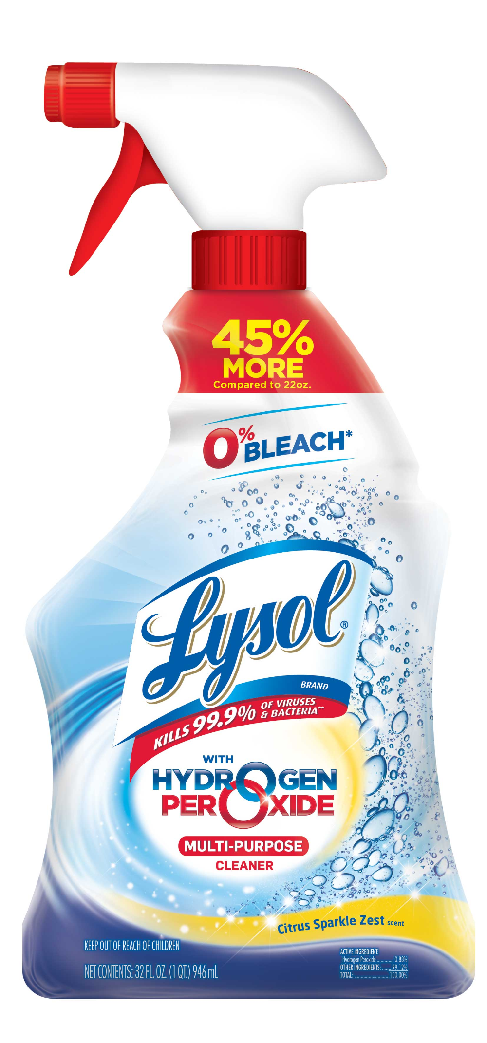 Lysol Bleach Free Hydrogen Peroxide Multi Purpose Cleaner Citrus