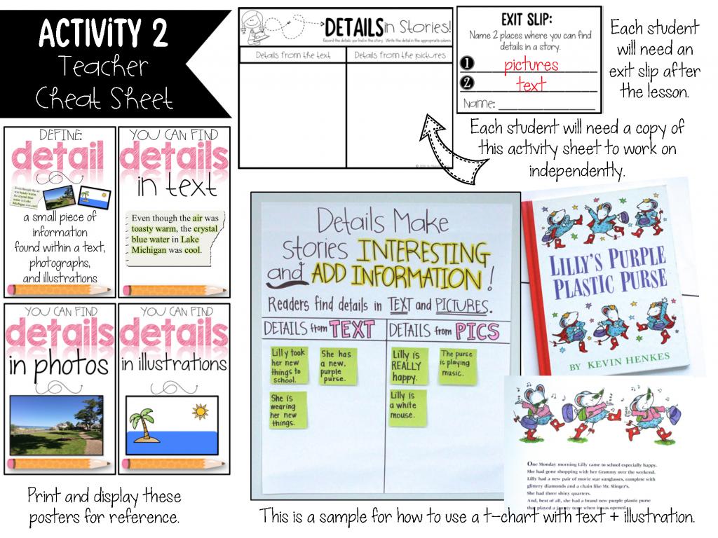 How To Teach Key Details And Main Idea