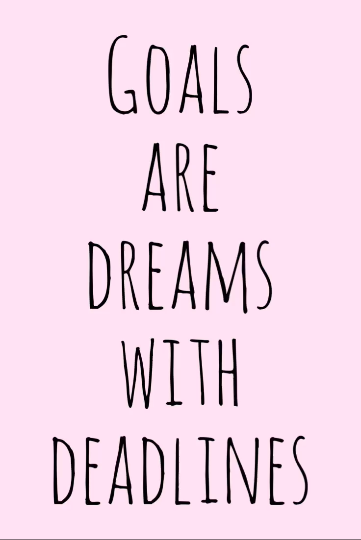 Motivation Monday Inspirational Quote – Goals are dreams with deadlines
