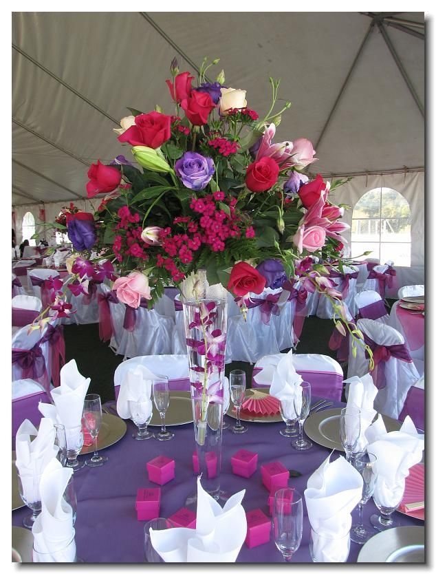 Quinceanera table Decoration Ideas. My favorite color is ...  Quinceanera tab...
