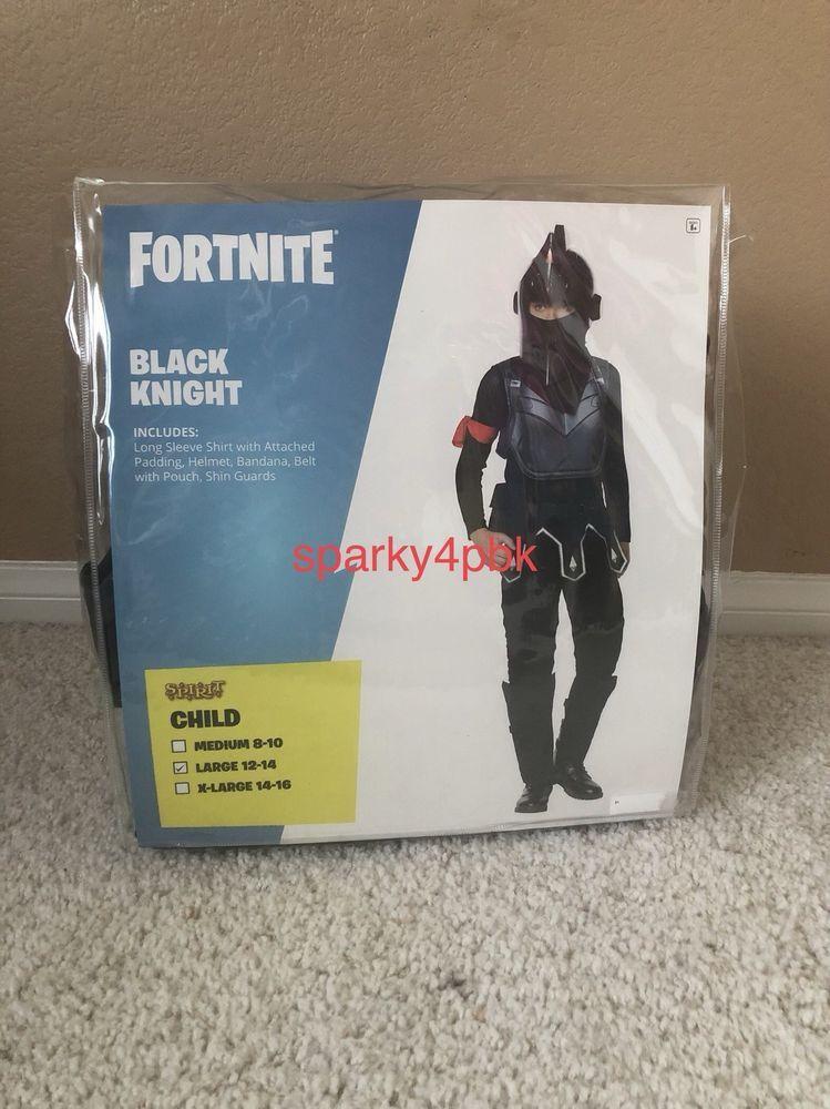 Fortnite Black Knight Skin Halloween Costume Kids Boy Child Large 12