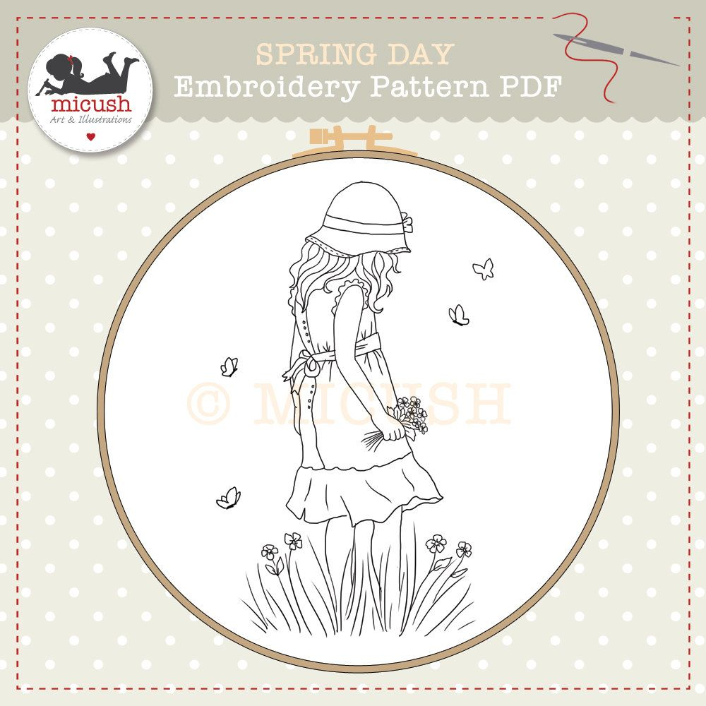 Embroidery Pattern PDF Spring Day by Micush on Etsy | embrodery ...