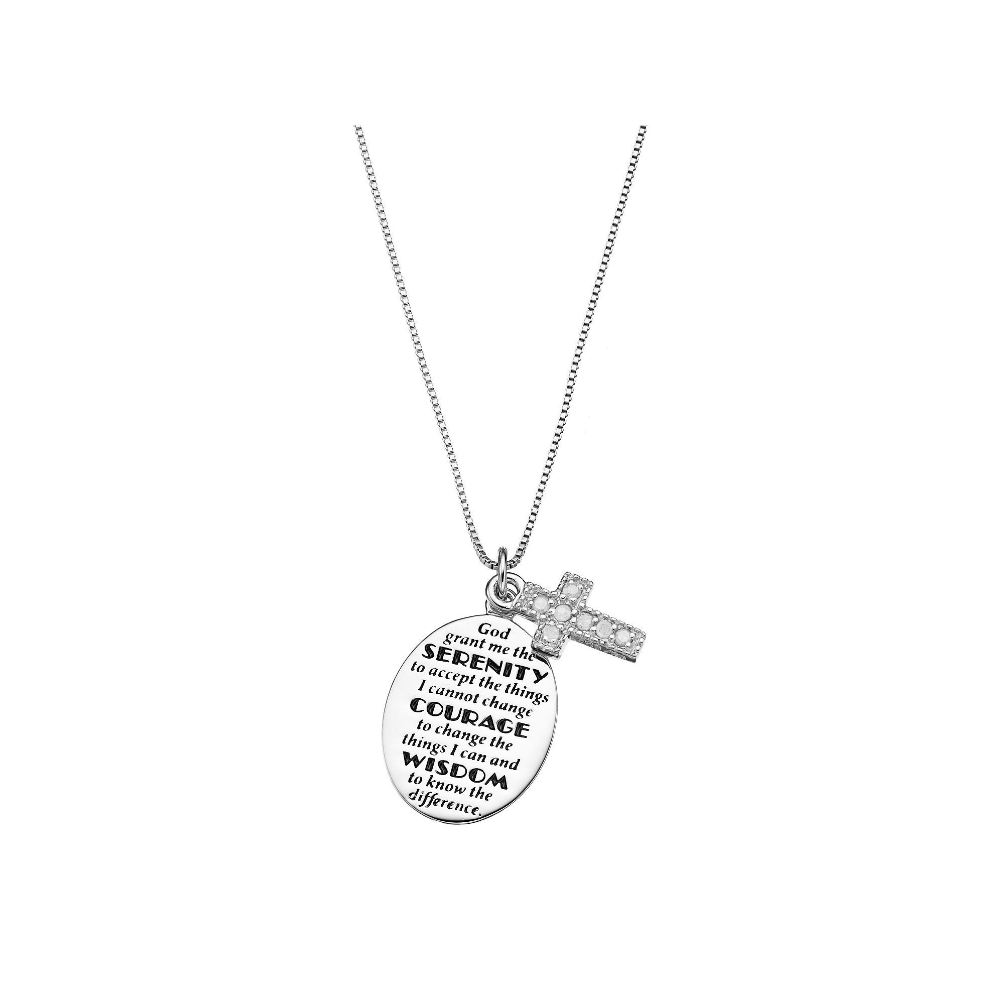 prayer serenity heart magnifier necklace pendants pendant