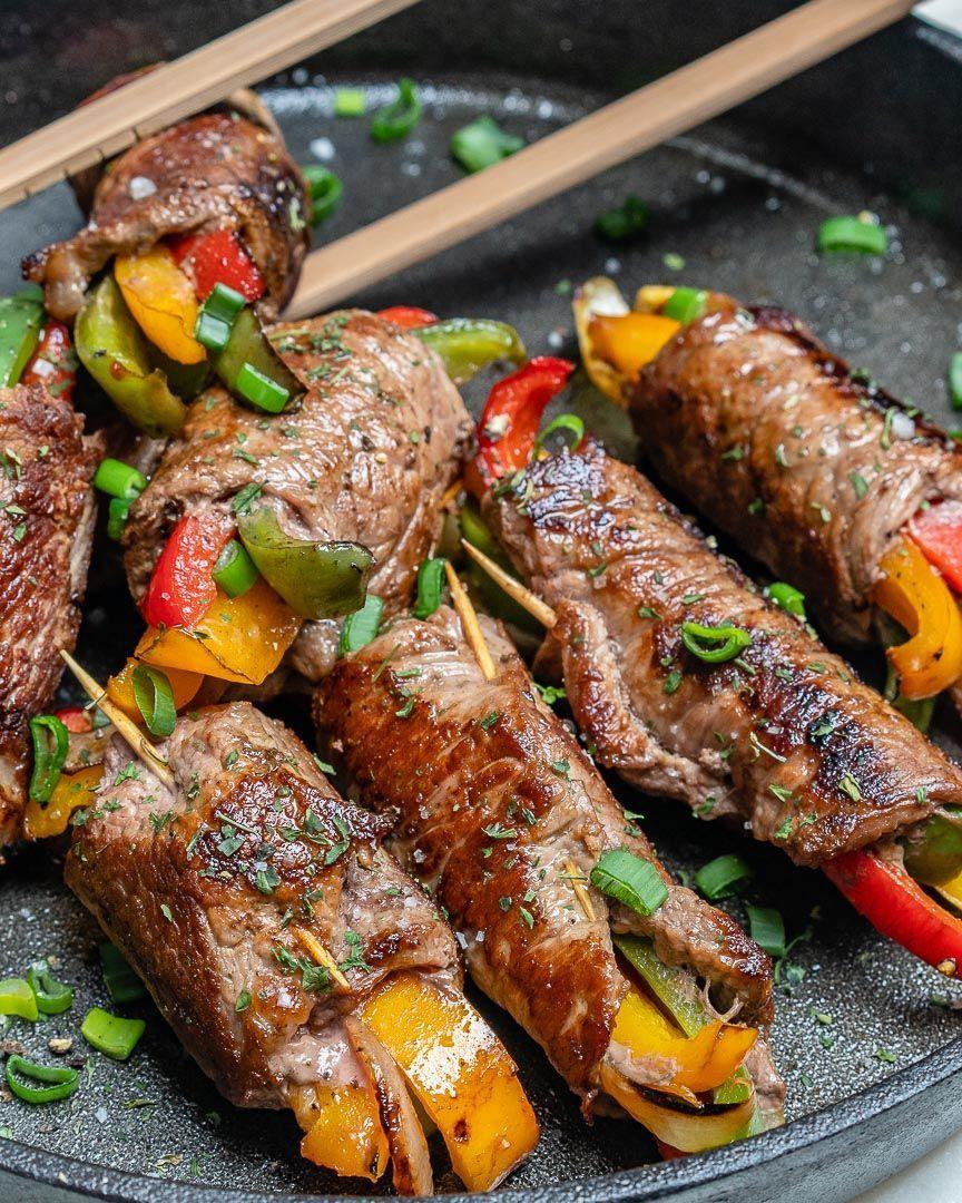 Enjoy these Steak Fajita Roll-Ups for Clean Eats!