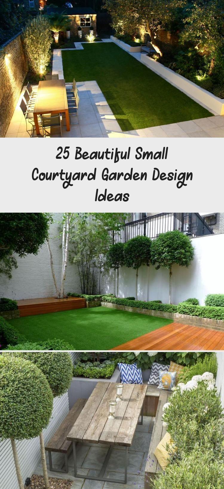 Photo of 25 Beautiful Small Courtyard Garden Design Ideas #smallcourt…