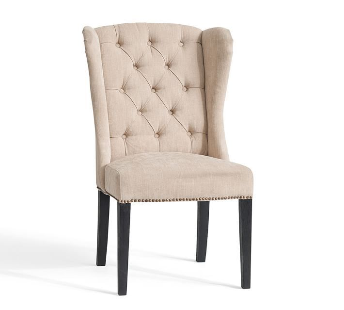 Thayer Tufted Wingback Dining Chair Comfortable Dining Chairs Dining Chairs Wingback Dining Chair