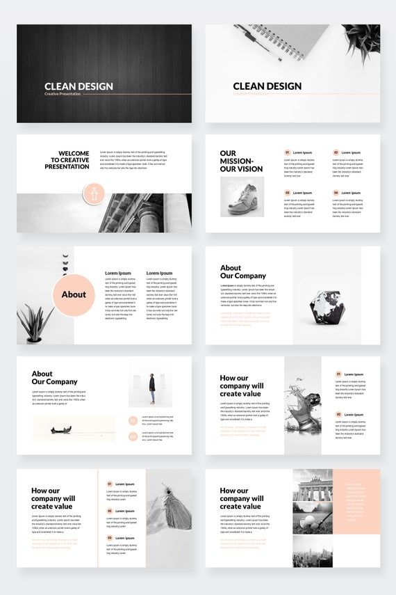 Clean Design Minimal Keynote Presentation Template
