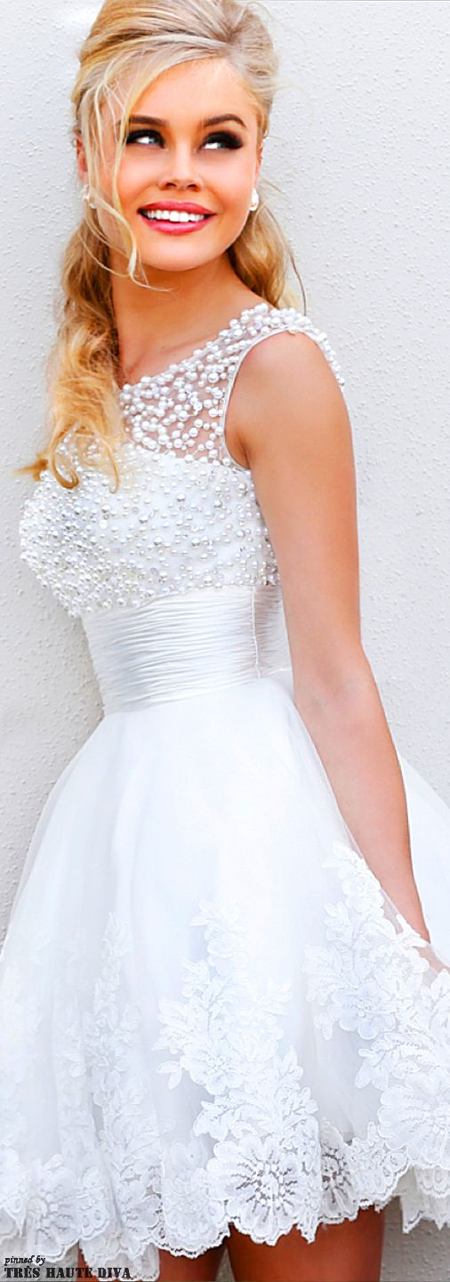 perfect for your shower/rehearsal or even reception dress. toooo cute!!!!! Sherri Hill Spring/Summer 2014
