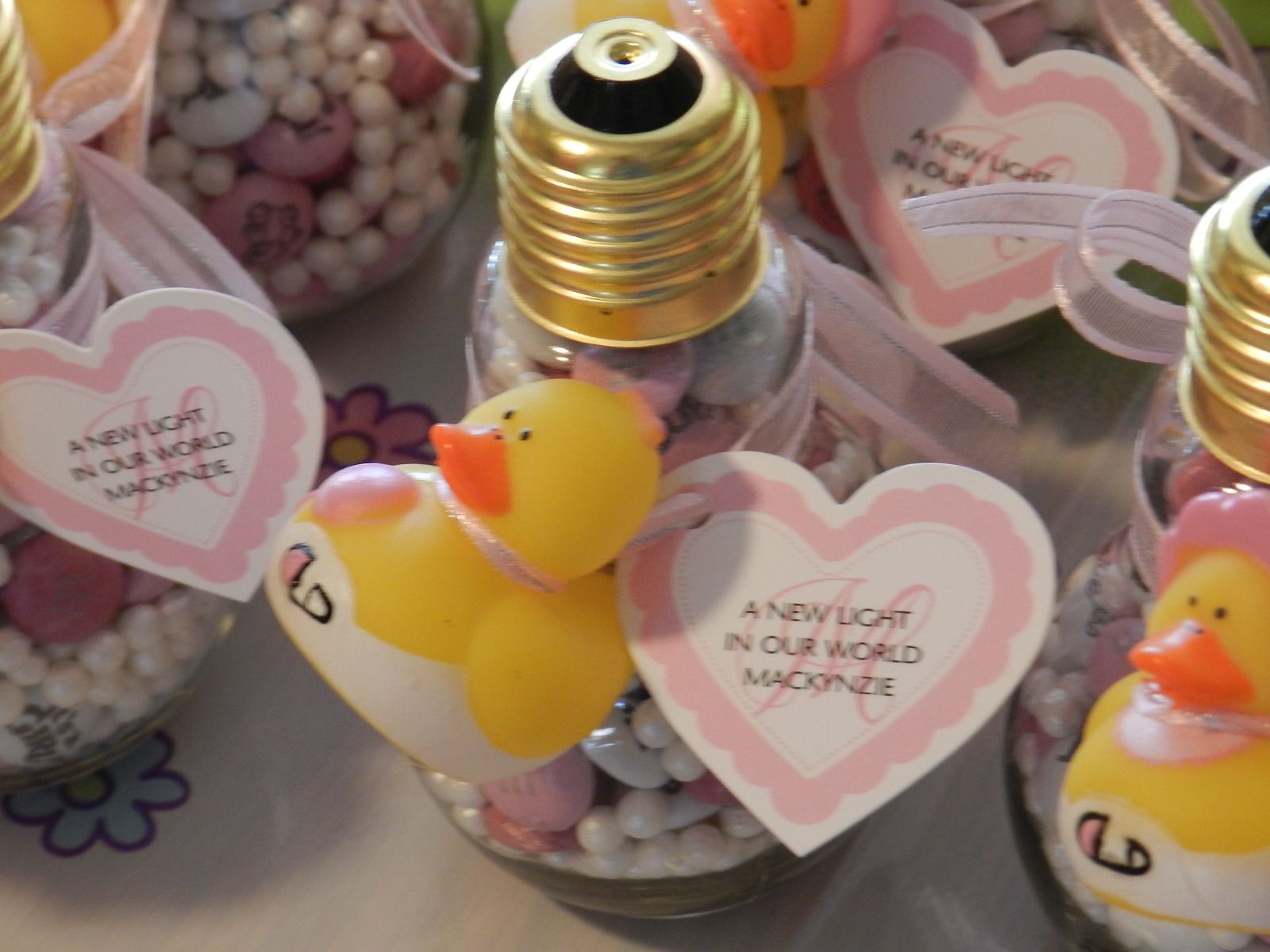 Baby Shower Decor Hobby Lobby ~ I made this for my daughter s baby shower favor i bought the