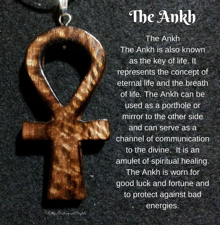 Ankh made from burnt oak by Matty's Creations and Crystals