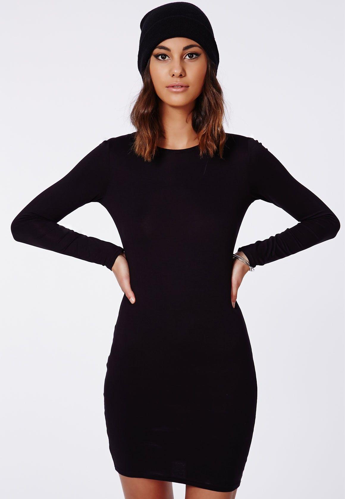 Rainey Long Sleeve Bodycon Dress Black Dresses Bodycon Dresses