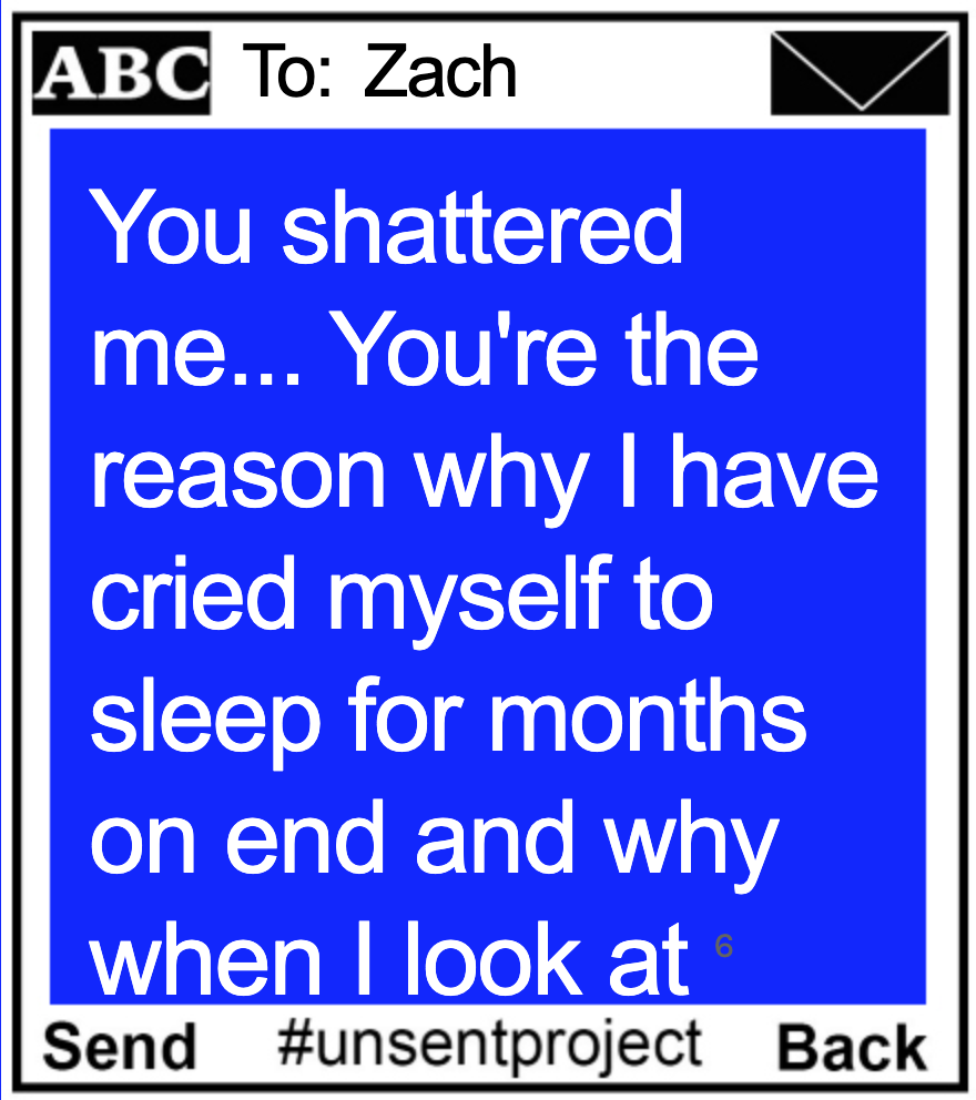 Zach The Unsent Project Text Me Quotes So Much Love
