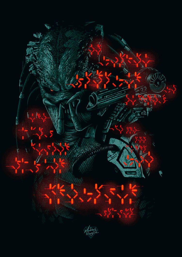 Pin By Horror And More Horror On Alien Predator Predator Art