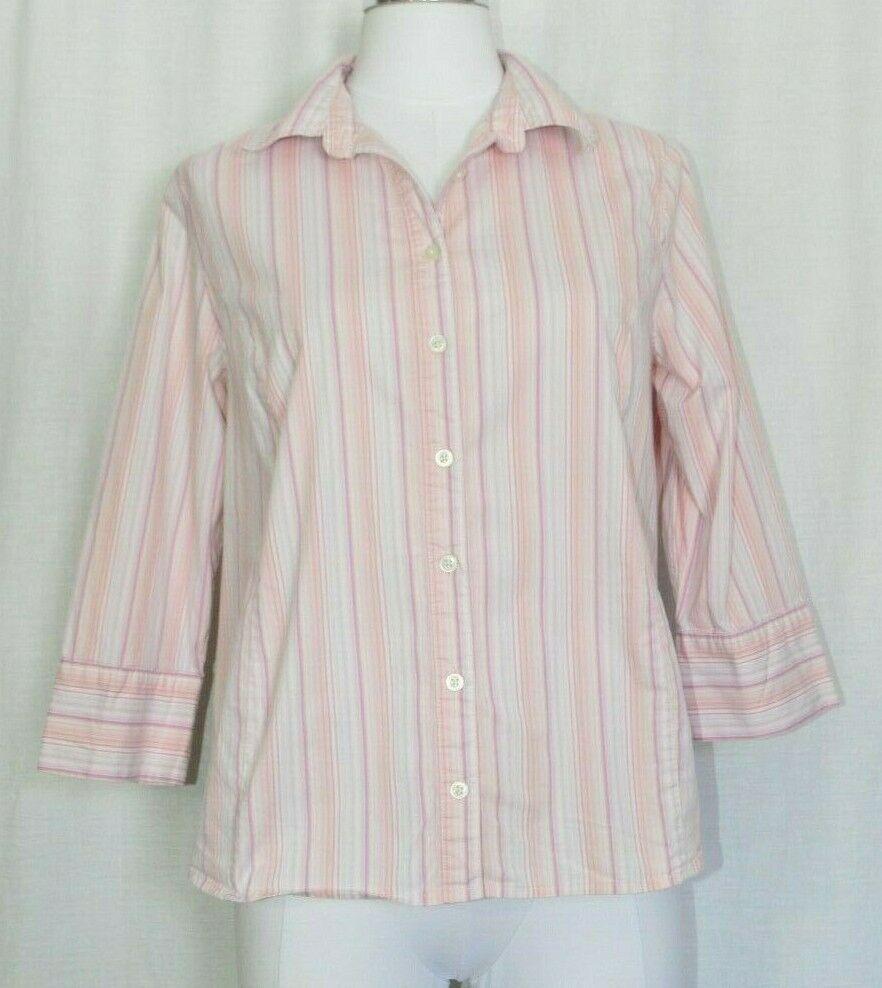 a023de5f0a Liz Lange Maternity Pink Striped Button Down Blouse Shirt Size Medium For  Target  LizLange  ButtonDownShirt