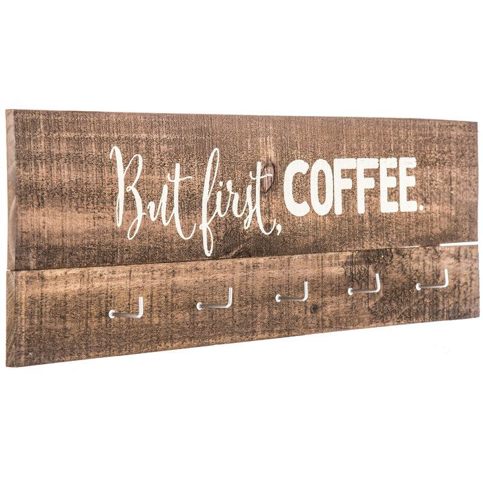 But First Coffee Wood Wall Decor with Hooks | Hobby Lobby | Wood wall decor, Framed mirror wall ...