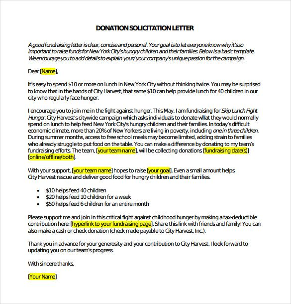 Donation Letter Template Free Word Pdf Documents Fundraising
