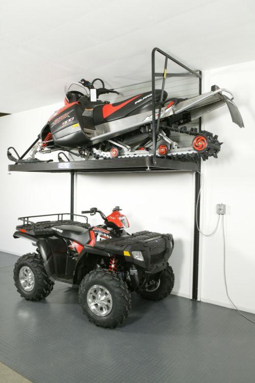 Atv Garage Storage Lift Garage Ideas