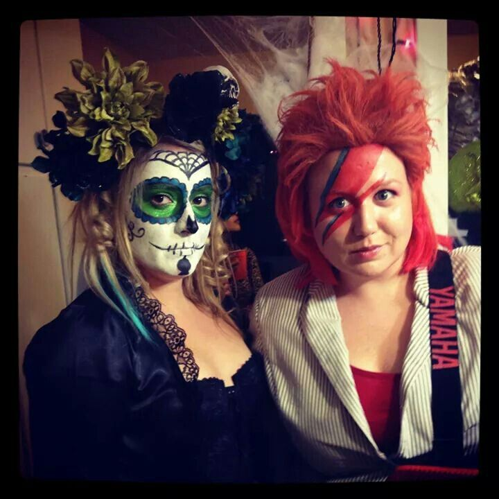 DIY HALLOWEEN Day of the dead and david bowie