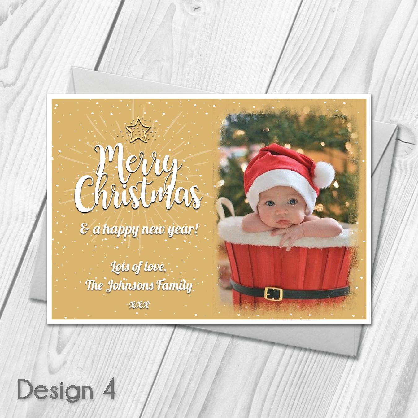 Christmas Cards Personalised Photo Xmas Cards Festive Postcards