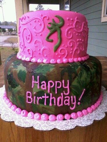 Pink camouflage birthday cake PINK STUFFEvery Thing You Can
