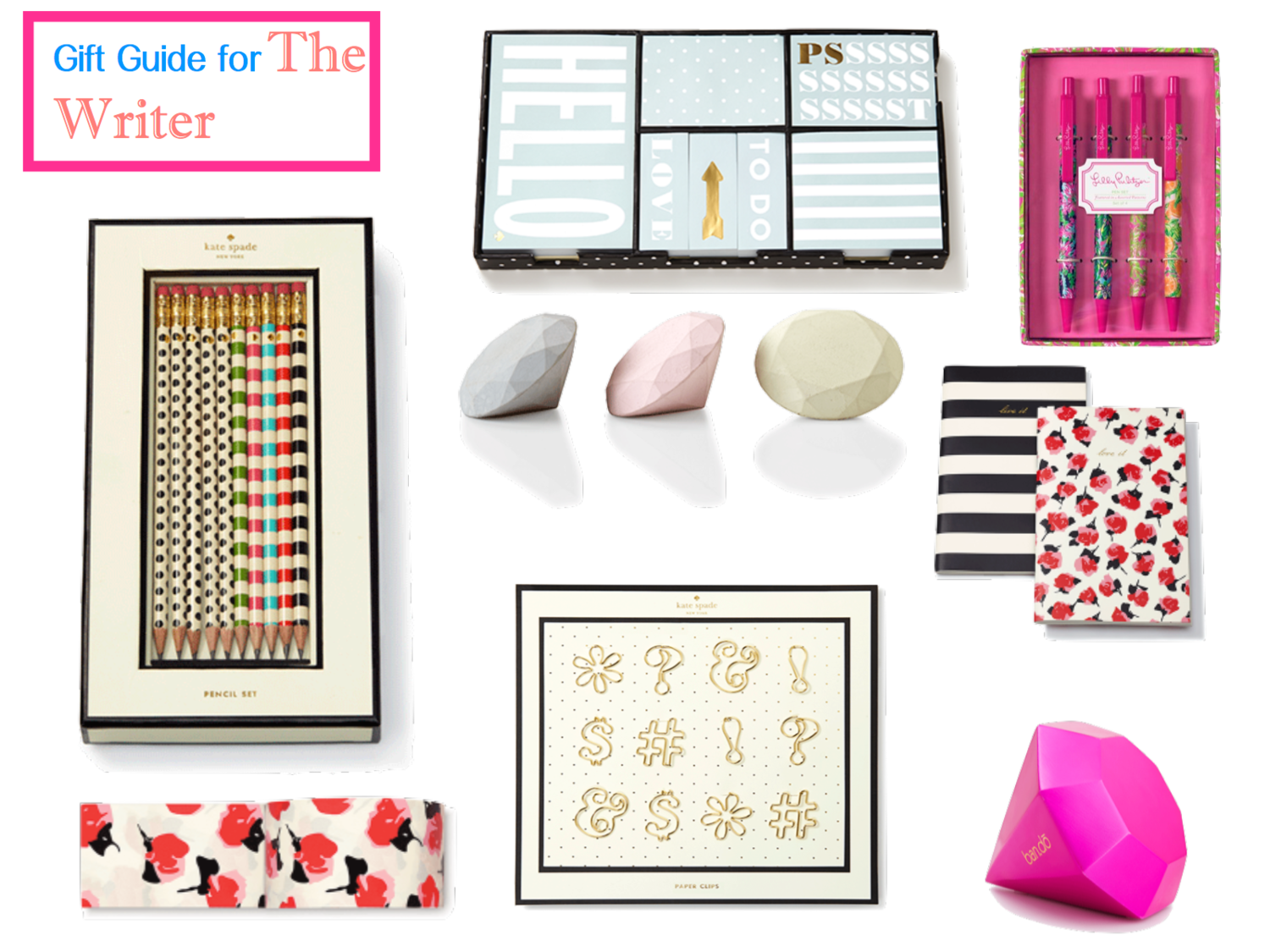 Gift Guide for The Writer   http://www.inthevalleyblog.com/inthevallley/2014/11/9/gift-guide-for-the-writer