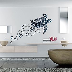 Simple Kreative Wandgestaltung Wandtattoos Wandtattoo Schildkr te Wohnen