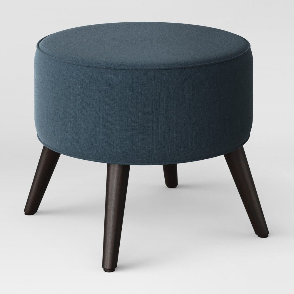 Riverplace Round Mid Century Ottoman Blue Project 62 Poef