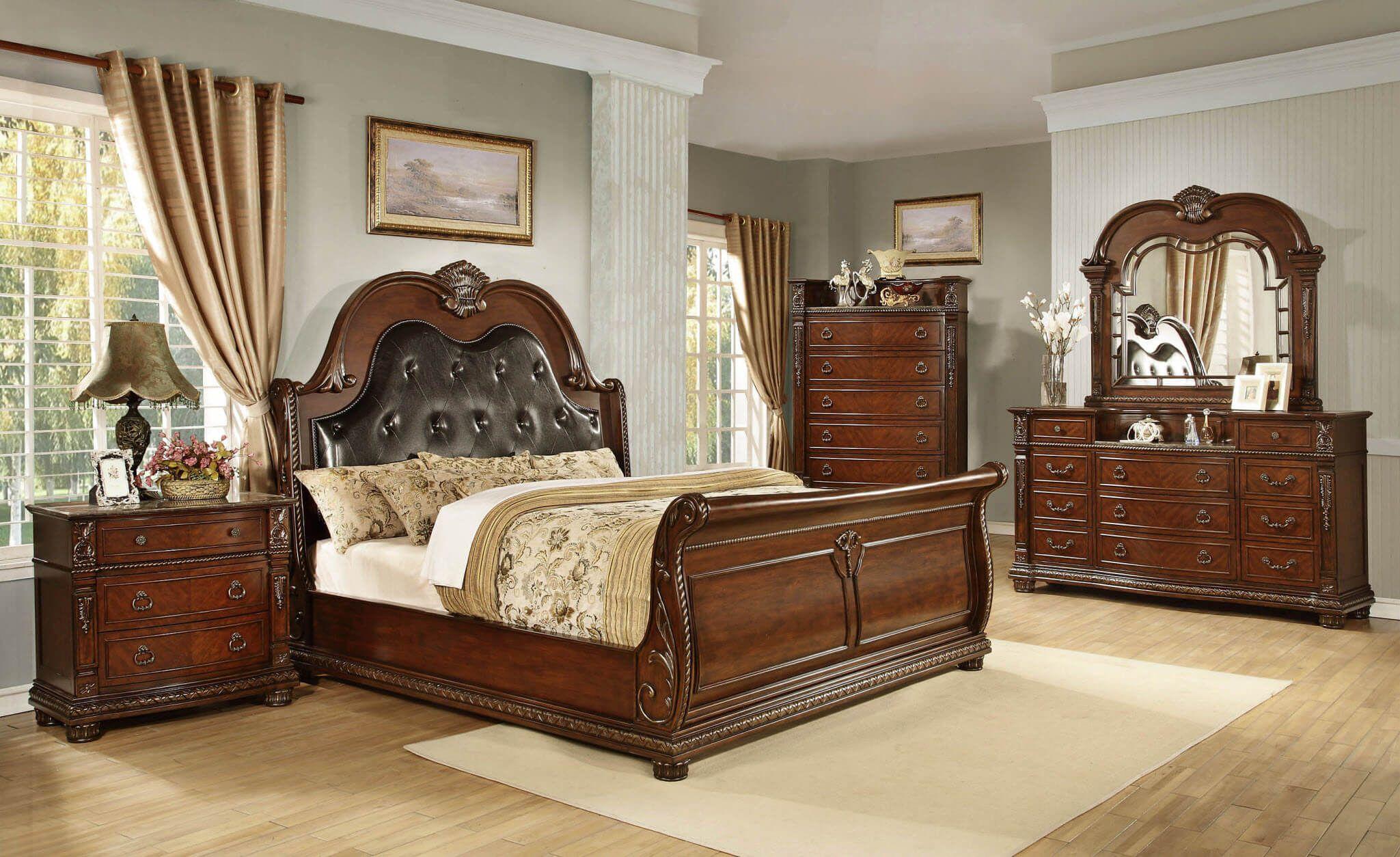 Best Grade Tempat Tidur Jati Natural Classic Luxury Carving Jepara Ttj 1001 Tempat Tidur Furniture Mebel